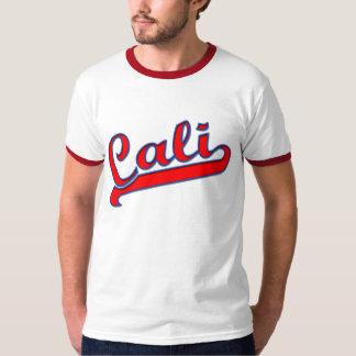 Camiseta roja y azul del logotipo de Cali