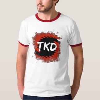 Camiseta roja y negra del huracán de TKD