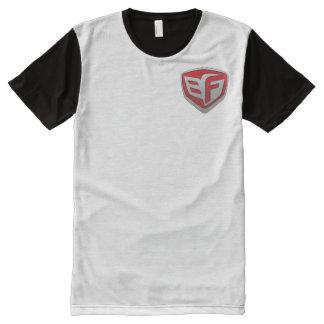 Camiseta rolliza del panel de los hombres