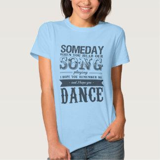 Camiseta romántica de las citas de la canción de polera