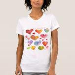 Camiseta/ropa de 19 corazones de la tarjeta del camisetas
