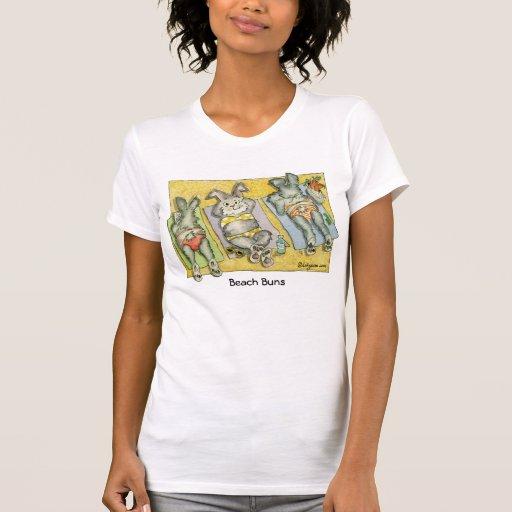Camiseta/ropa de encargo de los bollos de la playa