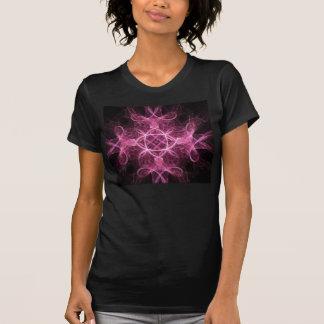 Camiseta rosada apasionada del fractal
