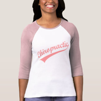 Camiseta (rosada) atlética de la quiropráctica playera