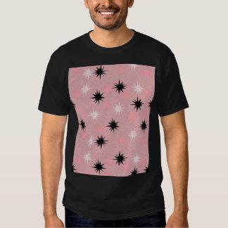 Camiseta rosada atómica de Starbursts Playeras