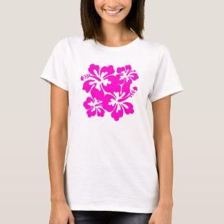 Camiseta rosada bonita del hibisco