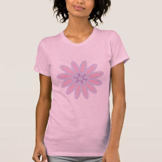Camiseta rosada bonita del rosa de la flor del dib