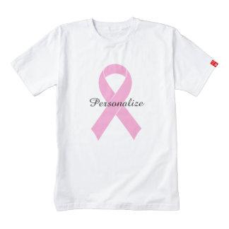 Camiseta rosada de la conciencia del cáncer de playera zazzle HEART