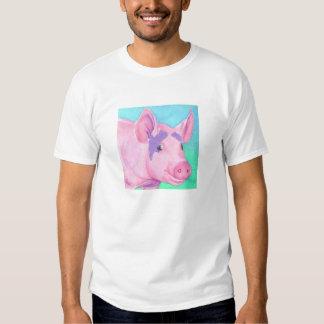 """Camiseta rosada de la luz del cerdo - """"este pequeñ playeras"""