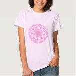 Camiseta rosada de la mandala de la flor de Lotus Polera