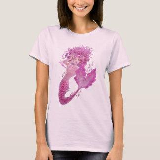 Camiseta rosada de la muñeca de la fantasía de la