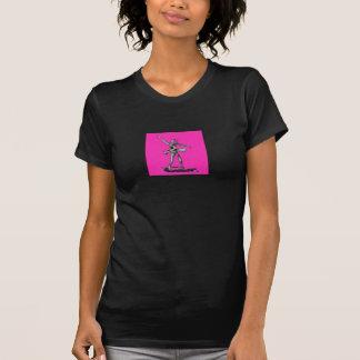 Camiseta rosada de la parte posterior de la