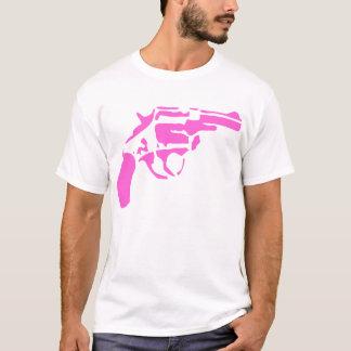 Camiseta rosada de la pistola