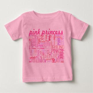 Camiseta rosada de la princesa para los bebés y playera para bebé