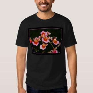 Camiseta rosada de las orquídeas playera