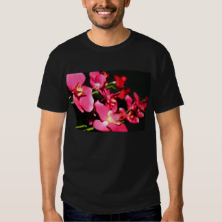 Camiseta rosada de las orquídeas playeras