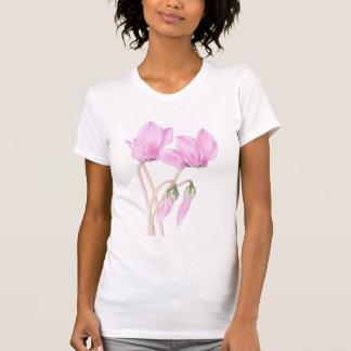Camiseta rosada de las señoras de los Cyclamens