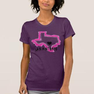 Camiseta rosada de las señoras del esquema del gru