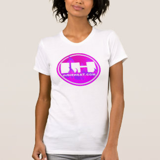 camiseta rosada de las señoras del logotipo de