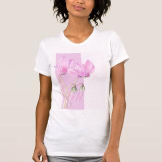 Camiseta rosada de las señoras rosadas de los