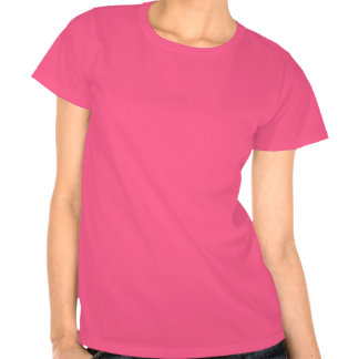 Camiseta rosada de los bastones de caramelo