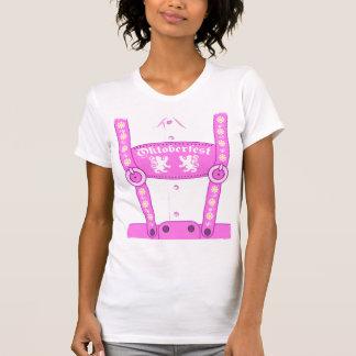 Camiseta rosada de los Lederhosen de Oktoberfest