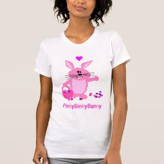 Camiseta rosada de Pascua del conejito de Binky