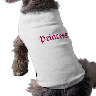 Camiseta rosada de princesa Customizable Dog Camisa De Mascota
