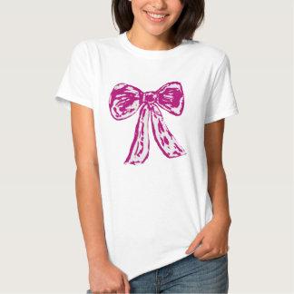 Camiseta rosada del arco playeras