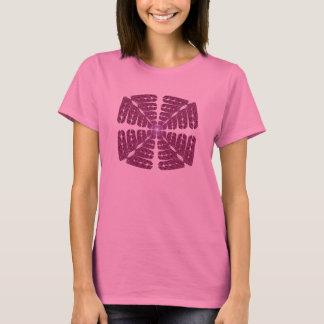 Camiseta rosada del arte abstracto