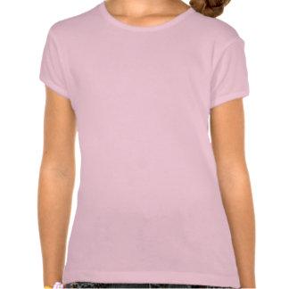Camiseta rosada del arte del esquí de los chicas d