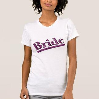 Camiseta rosada del banquete de boda del estampado remera