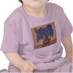¡Camiseta rosada del bebé de las correhuelas