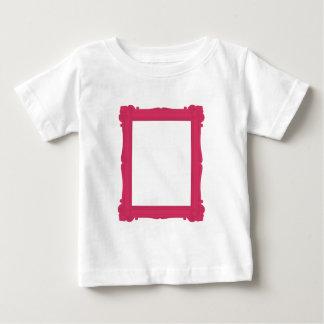 Camiseta rosada del bebé del marco de la playeras