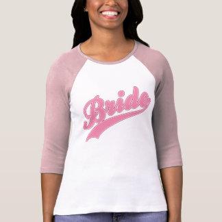 Camiseta rosada del béisbol de la novia playeras