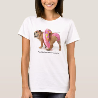 Camiseta rosada del bikini del punto de Zelda Polk