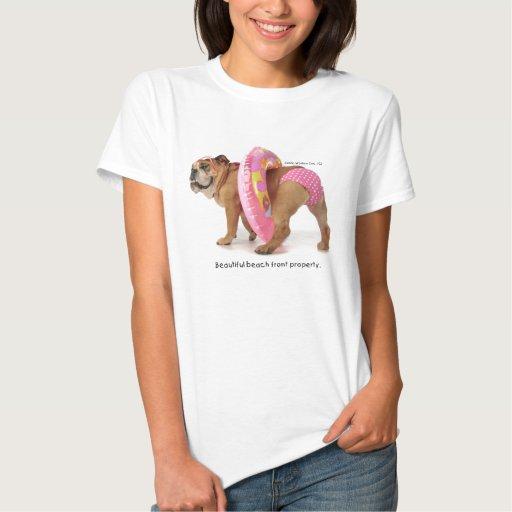 Camiseta rosada del bikini del punto de Zelda Polk Remeras