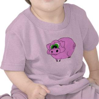 Camiseta rosada del cerdo