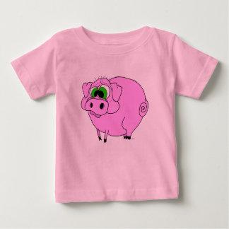 Camiseta rosada del cerdo polera