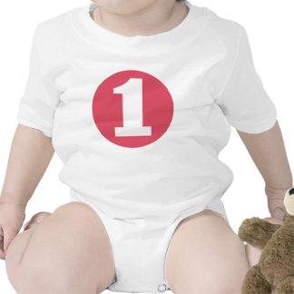 Camiseta ROSADA del CUMPLEAÑOS del RECORTE #1 de l