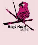 Camiseta rosada del esquiador de las señoras de Su