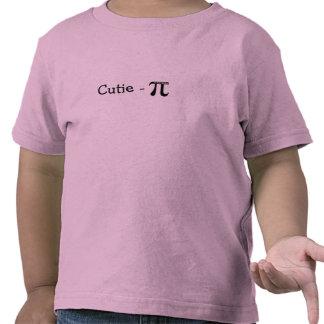Camiseta rosada del niño Cutie-Pi (empanada)