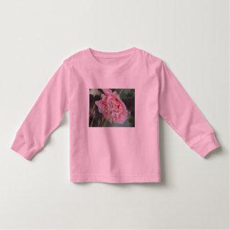 Camiseta rosada del niño de la flor del Peony