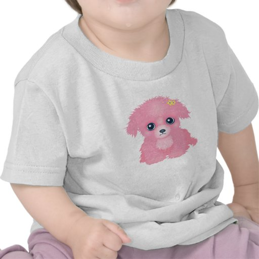 Camiseta rosada del niño del perrito
