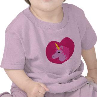 Camiseta rosada del niño del unicornio