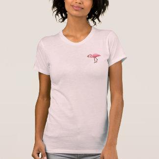 Camiseta rosada del pájaro de la diversión de las