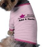 Camiseta rosada del perro de la atracción de la es camisa de mascota