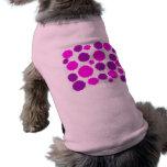 Camiseta rosada del perro del lunar prenda mascota