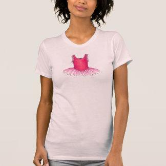 Camiseta rosada del tutú de la bailarina del traje camisas