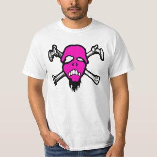 Camiseta rosada del valor del cráneo de remera